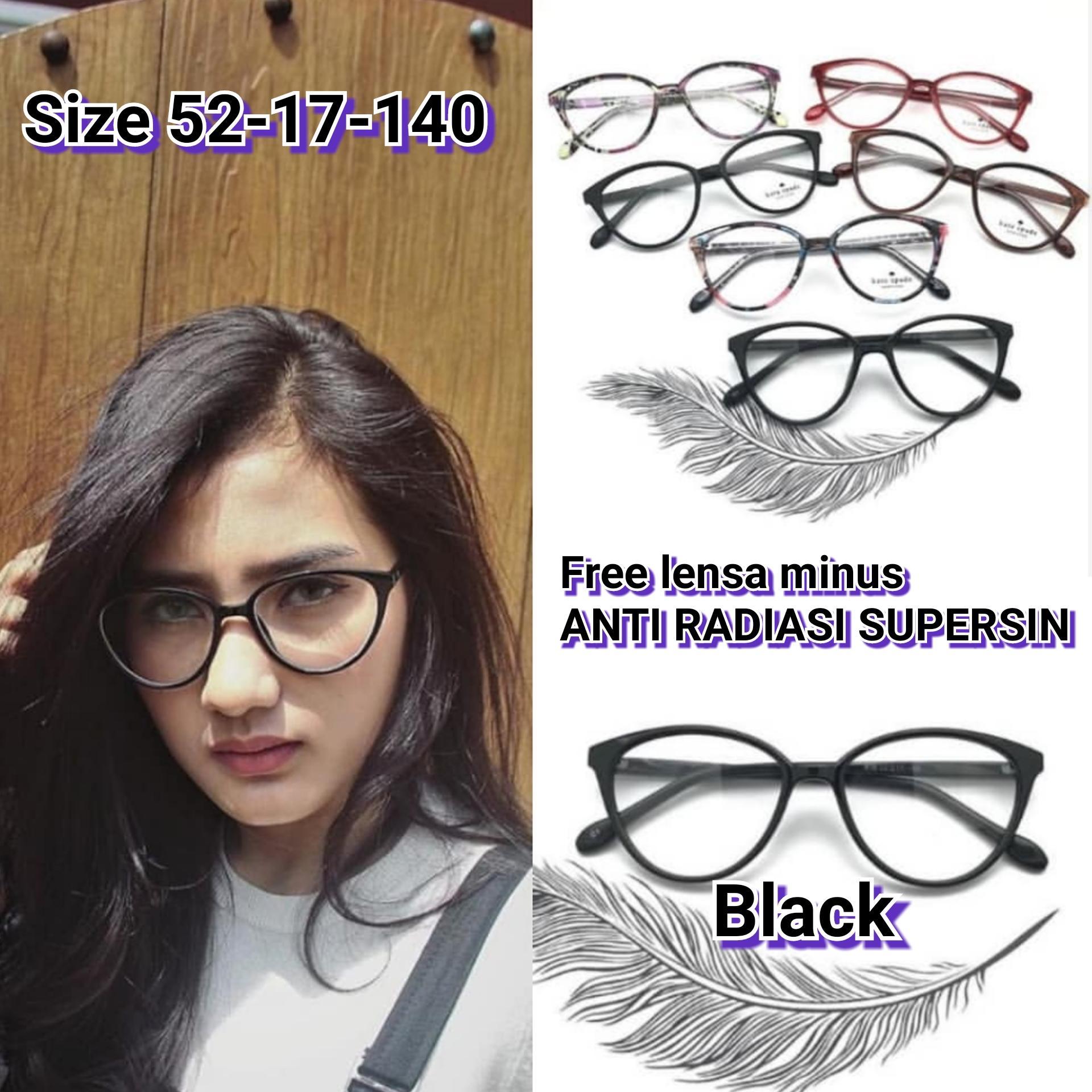 Frame Kacamata minus Cat Eye 608 kacamata minus   plus  cylinder kacamata  anti radiasi 928da2a61d