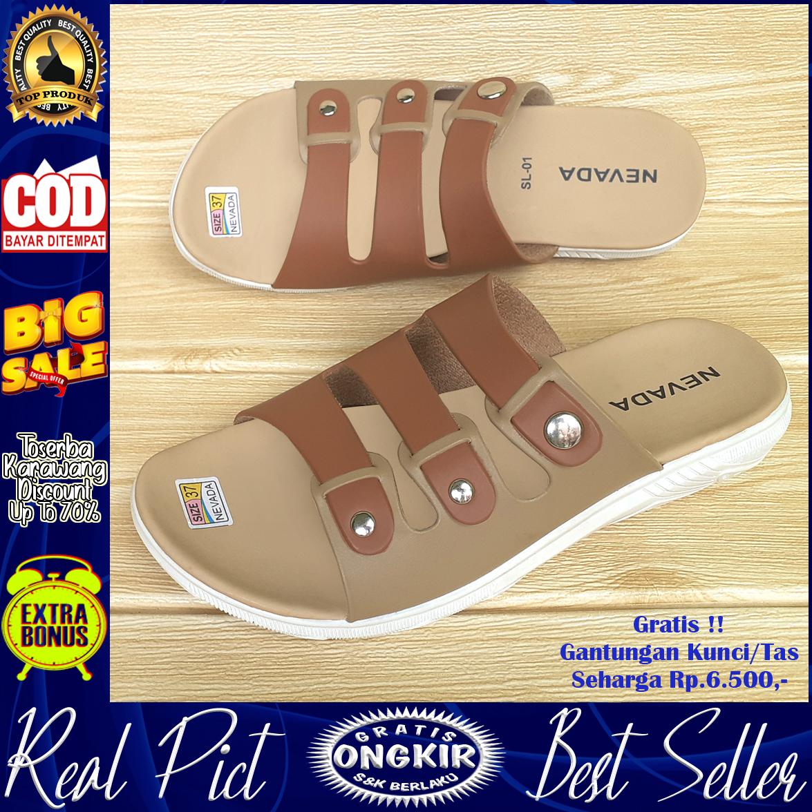promo sandal / sendal flat wanita / cewek  kualitas terbaik adr-97