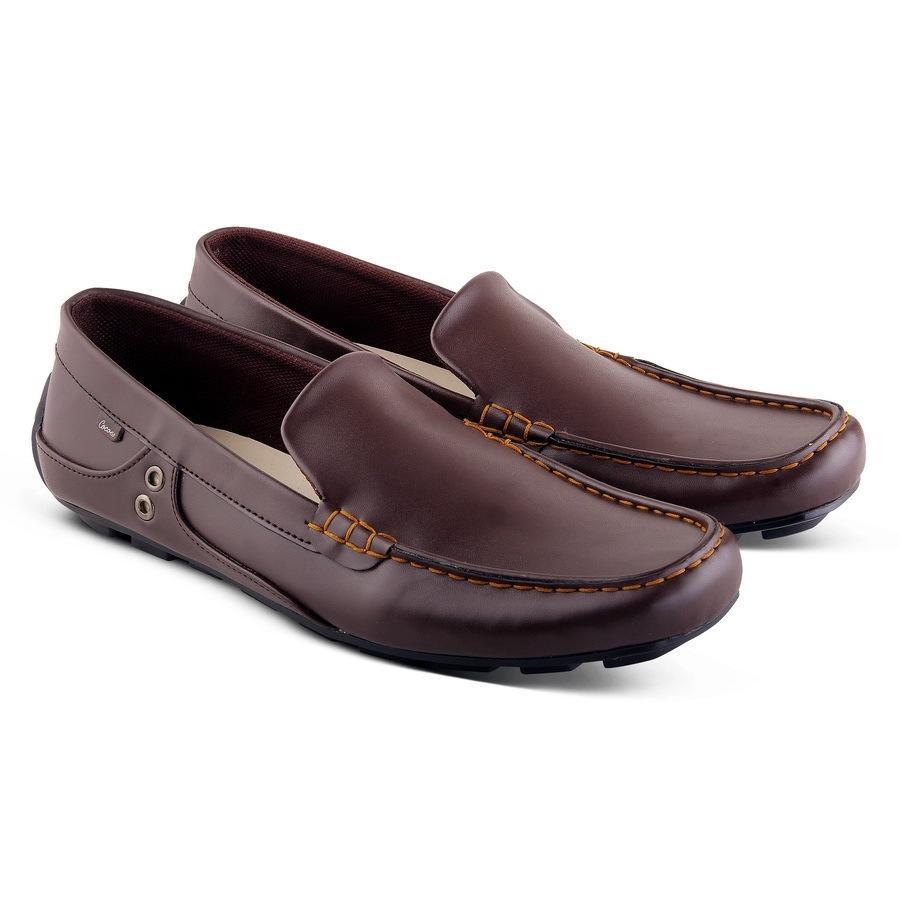 ... Sepatu Casual Pria Slip on Formal Kulit Asli Model Gucci Original  Cococes Ready Hitam Cokelat - 9327968014