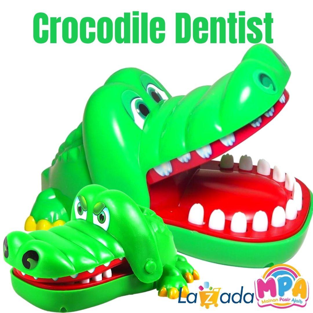 mainan edukatif anak crocodile dentist / mainan gigi buaya / mainan anak / mainan game