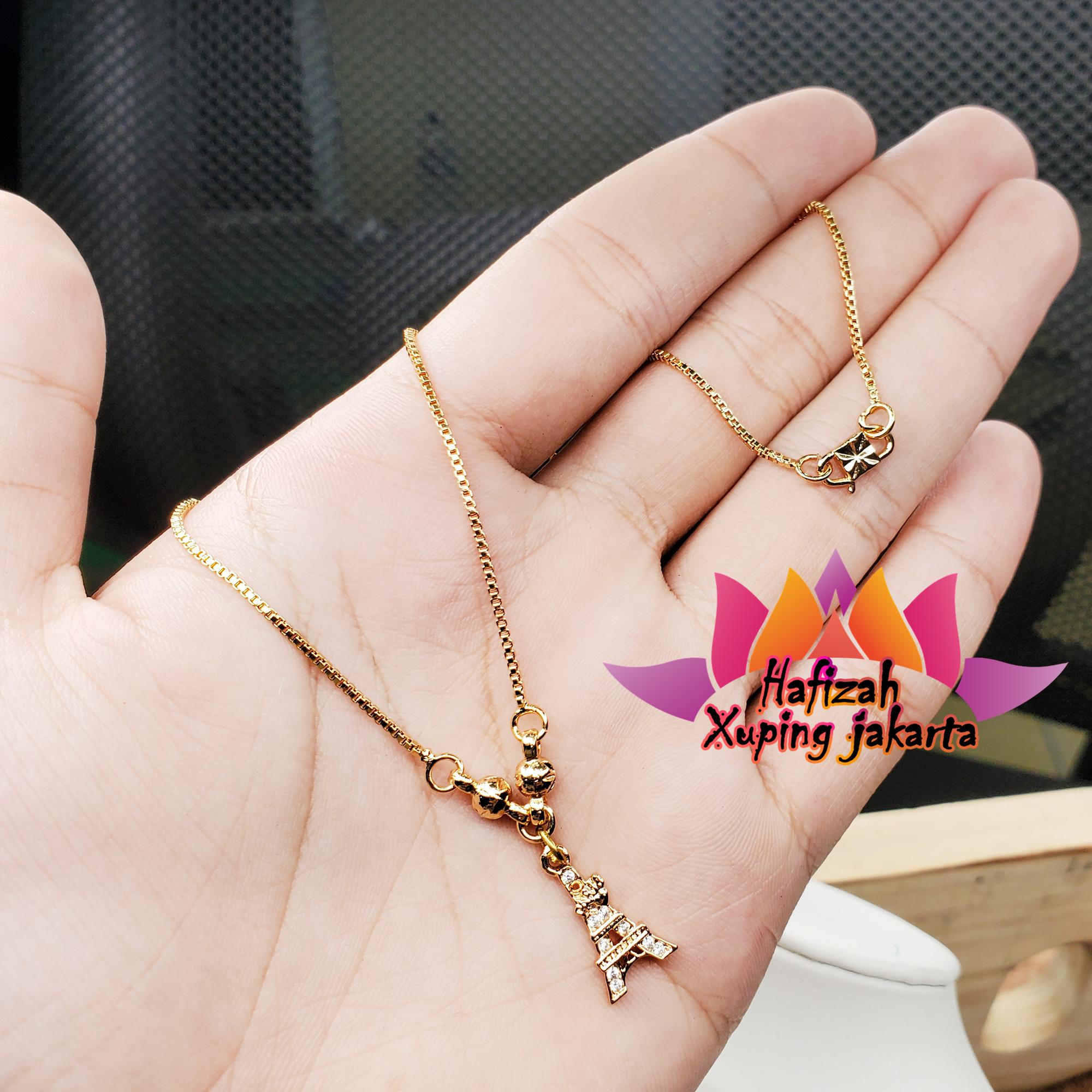 kalung xuping 24k itali bola motif lionitn paris anak perhiasan fashion