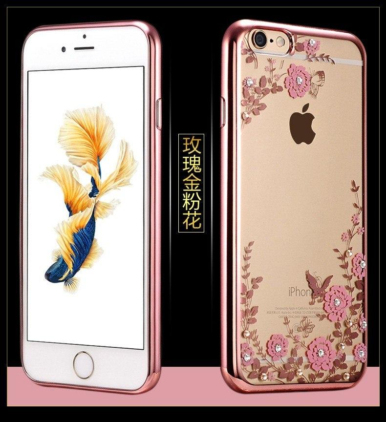 TPU FLOWER Case Apple iPhone 6 6s softcase casing bunga cover ultra thin transparan silicone tipis