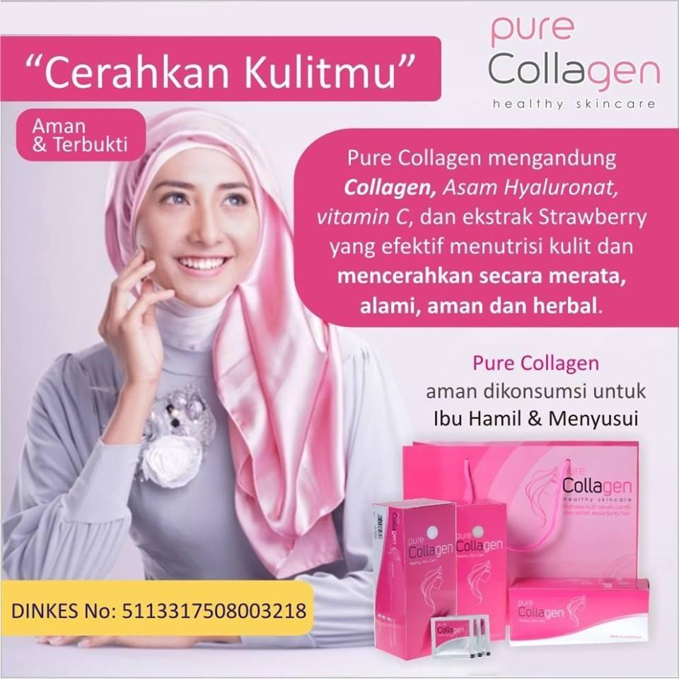 best er pure collagen suplement minuman pemutih original 1000% / 1 box isi 30 saset/skincare drink supplemen/menghaluskan kulit/menghilangkan flek wajah anti keriput/anti kerut/anti aging/wajah halus