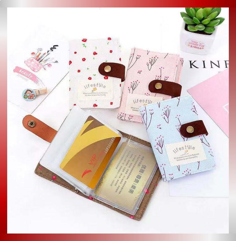 indo – dompet kartu motif bunga lifestyle / 10 lembar 20 slot kartu / dompet kartu wanita