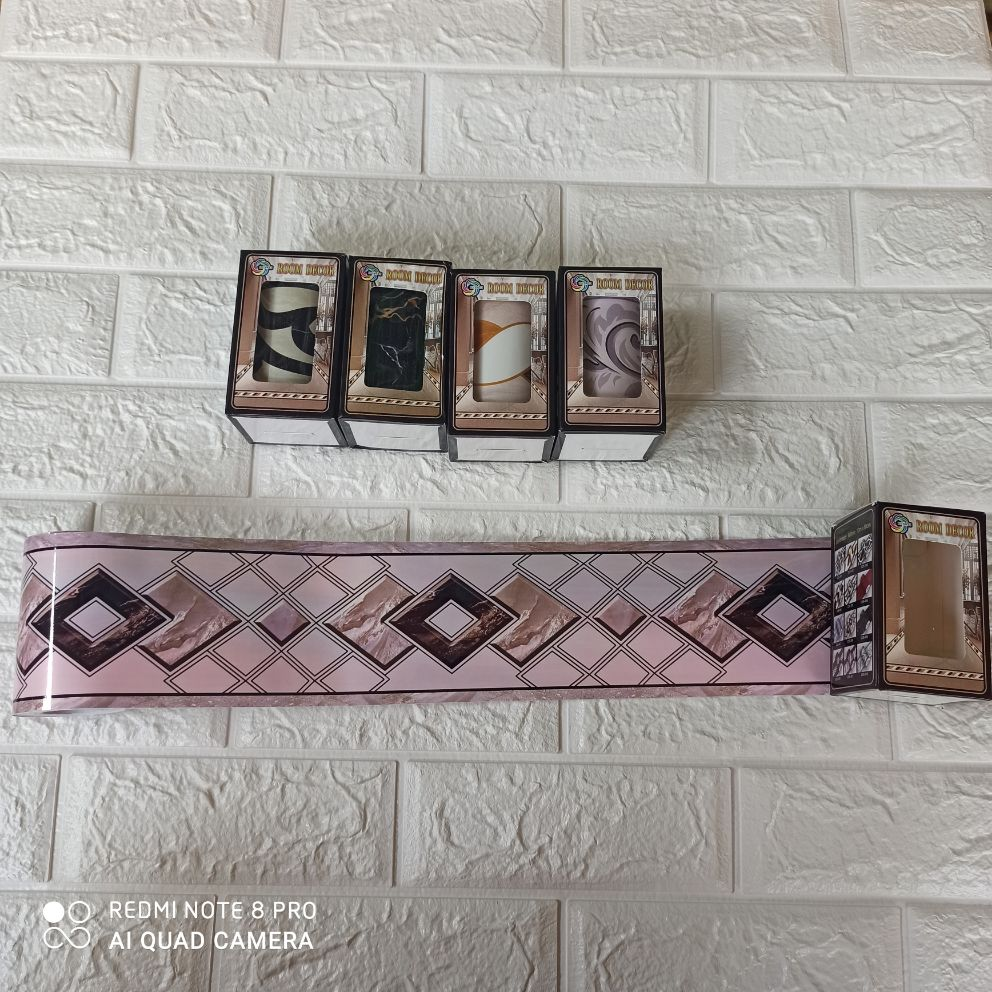 wallpaper wallborder list border untuk dinding lantai tahan gores cds-008 permukaan kaca marmer
