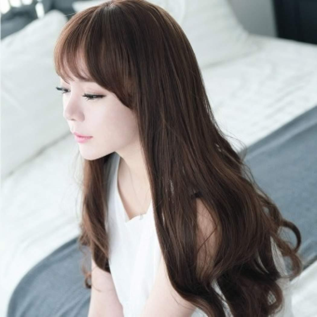 js hairclip straight lurus big layer 45cm hair clip high quality – light brown ( coklat terang )