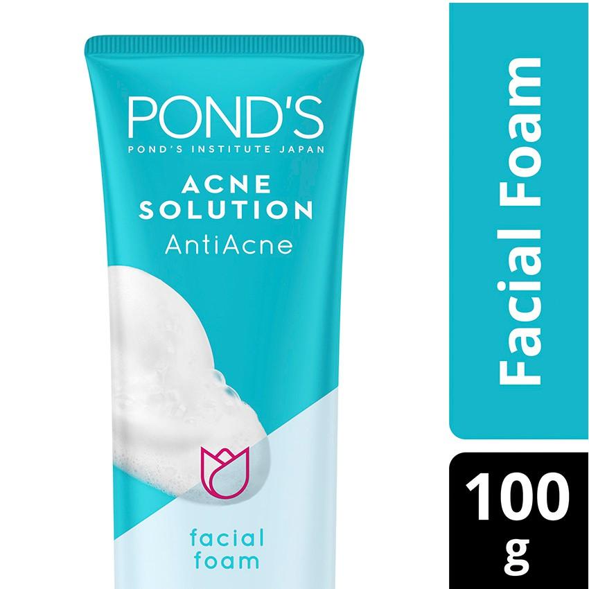 new ponds acne solution facial foam (menghilangkan jerawat 3 hari)