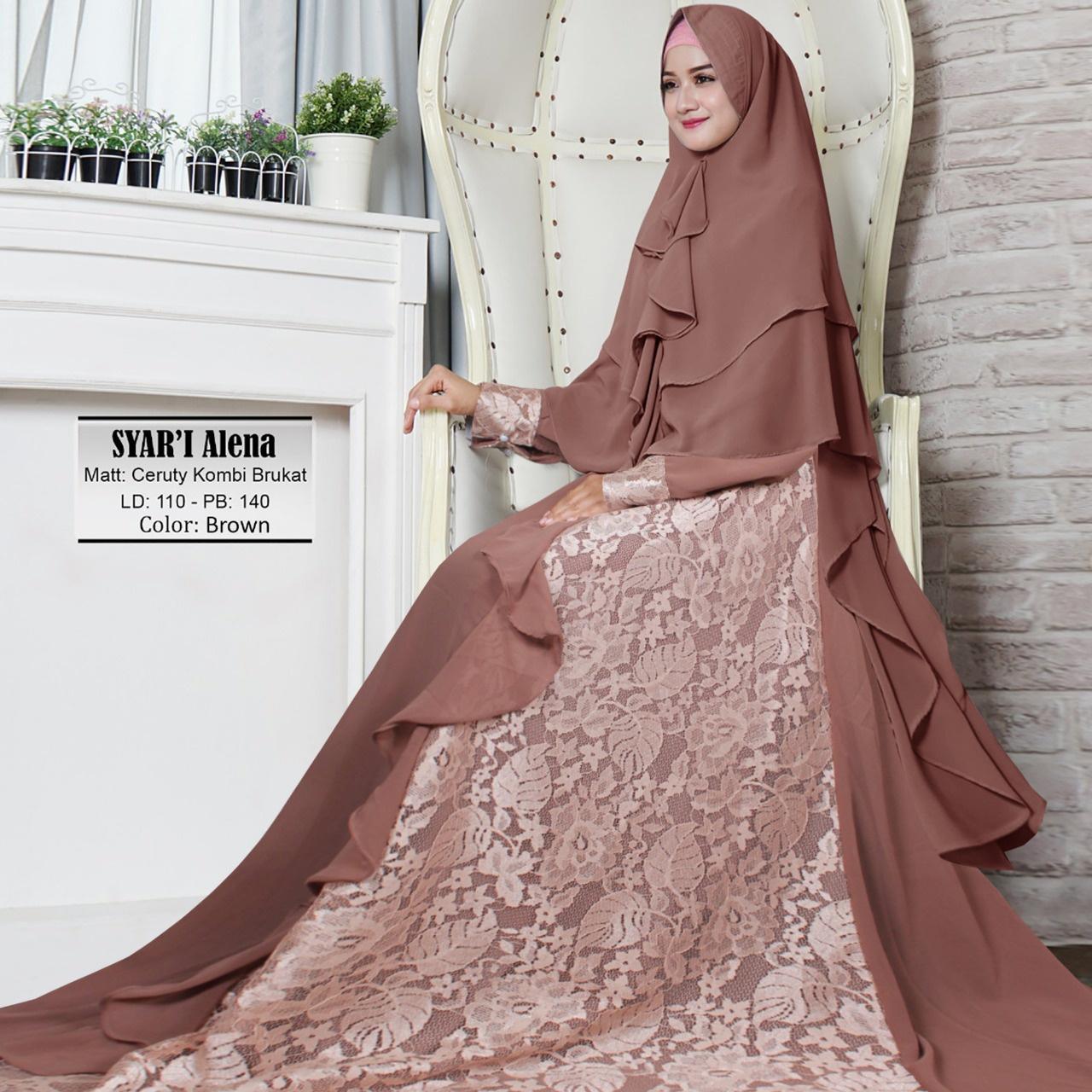 aufa collection gamais syari wanita/baju muslim jumpsuit wanita/gamis busui premium/busana
