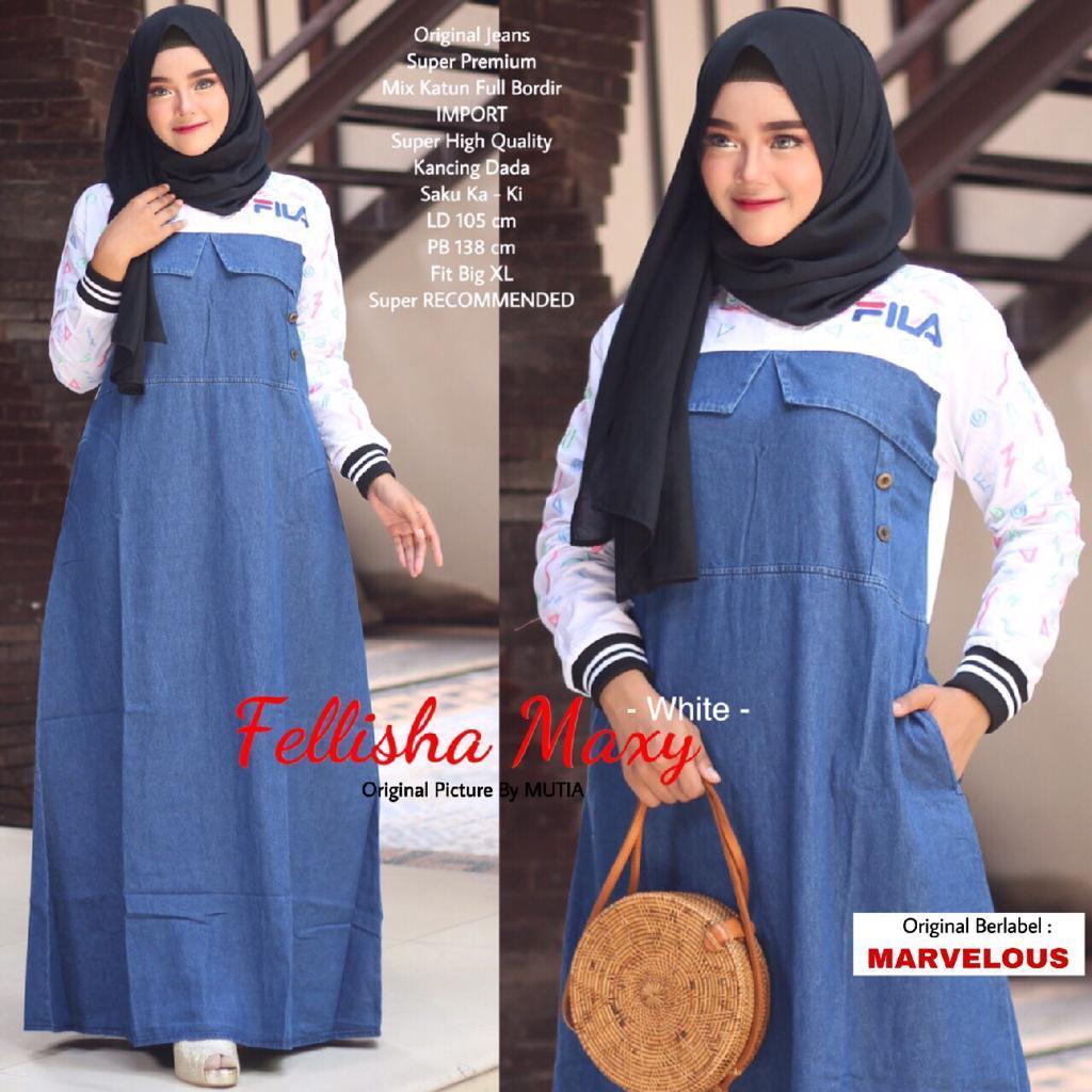 Review Model Bju Gamis Terbaru 2019 Brenda Scuba Dress Muslimah