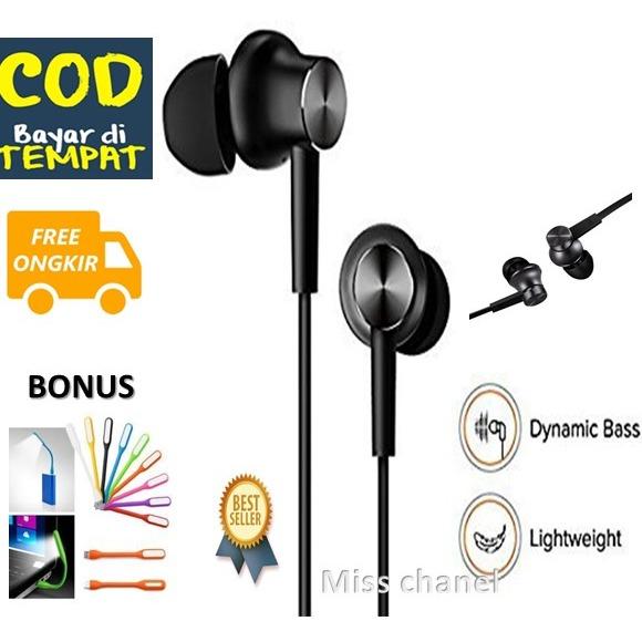 miss chanel headset / handset mi ma 8 – earphone mi ma 8 extra bass compatible untuk semua tipe hp samsung xiaomi oppo vivoasus iphone perangkat lainnya promo bonus usb lampu led