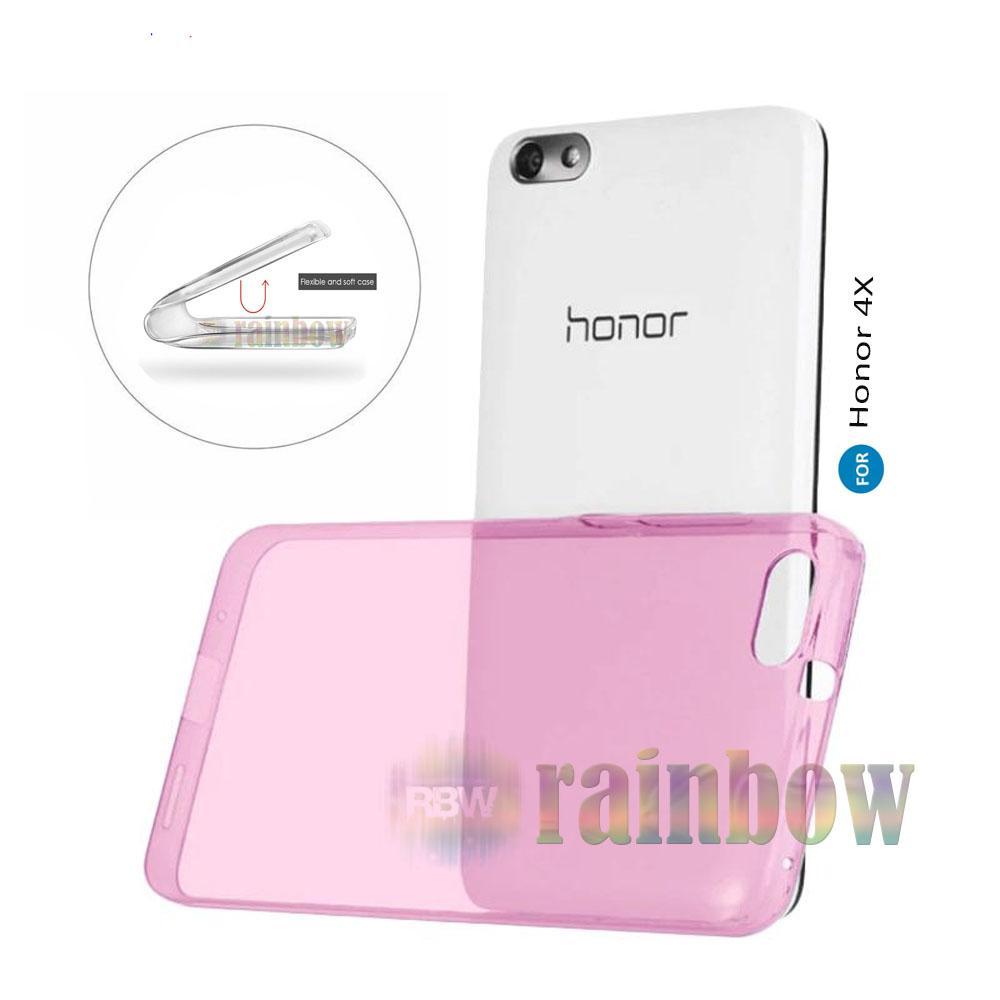 rainbow Soft Case Honor 4X Silikon Case Huawei 4x Ultrathin Huawei Honor 4X Ultrafit Crystal Clear