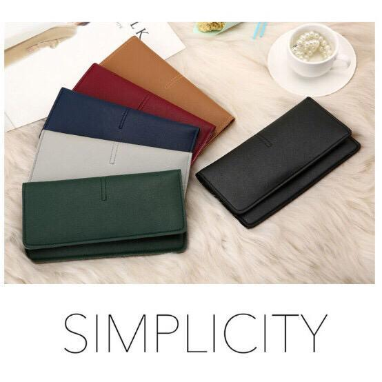 OSM - D037 Dompet Panjang Tipis / Dompet Wanita / Slim Simple Dompet / Dompet Import