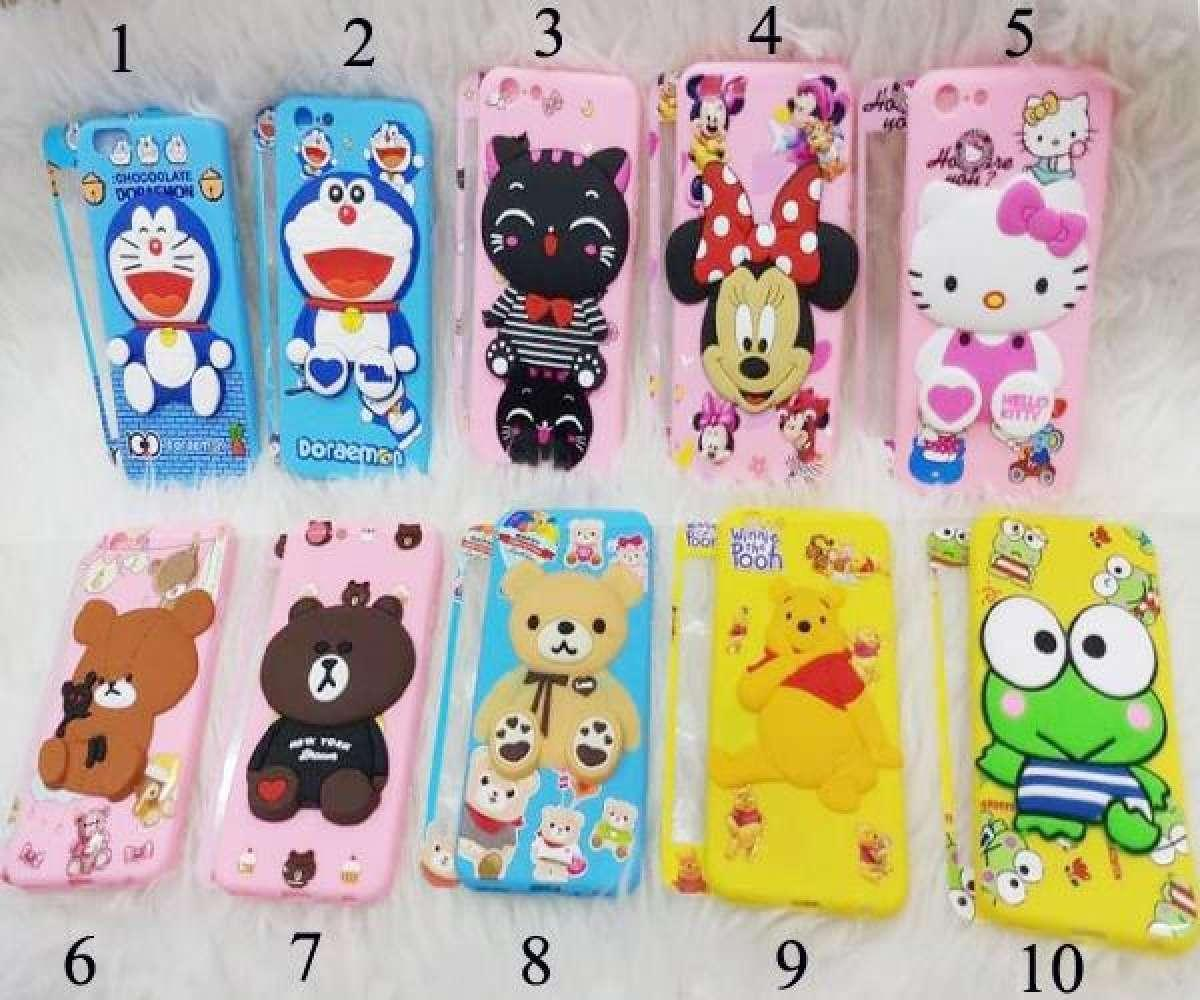 Softcase Boneka 3D Timbul For XIAOMI REDMI 6A Free Tempered Glass 360 motif Senada Case -