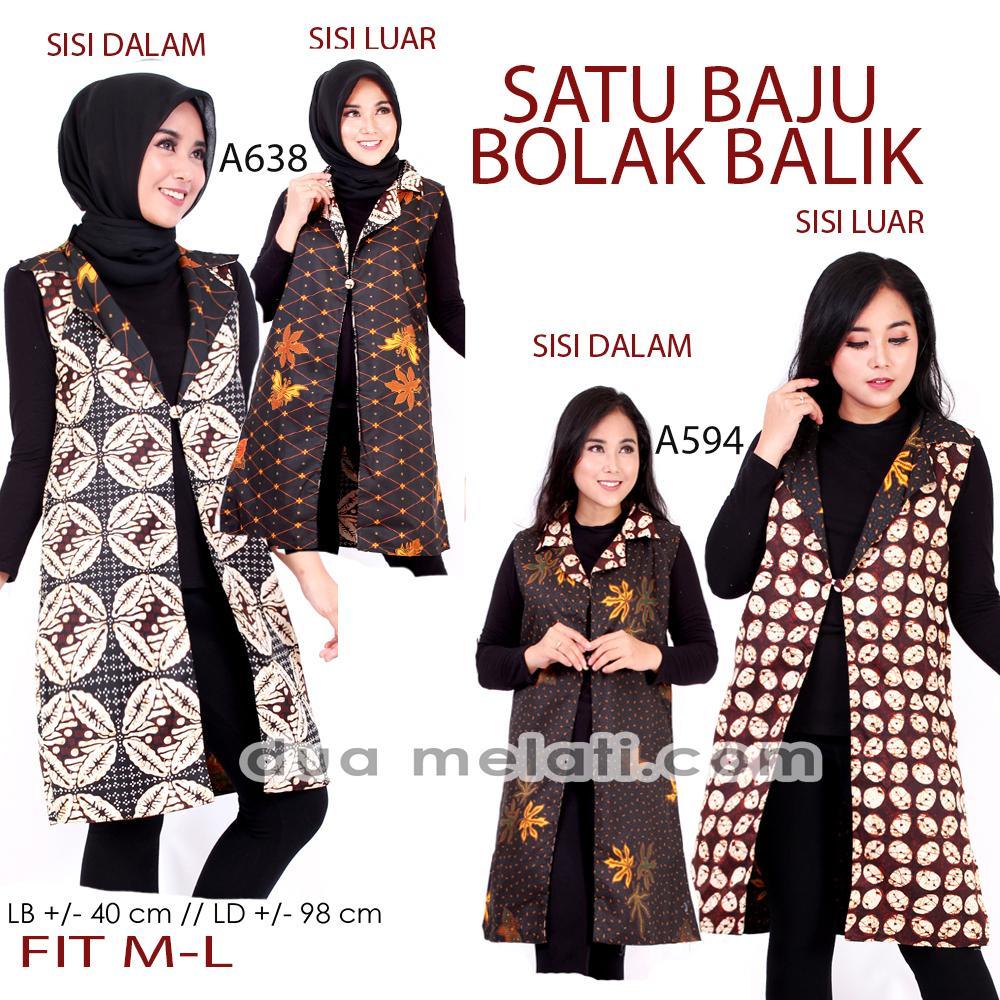 Review Kimono Outer Batik Wanita The Broo Best Seller Outer Batik