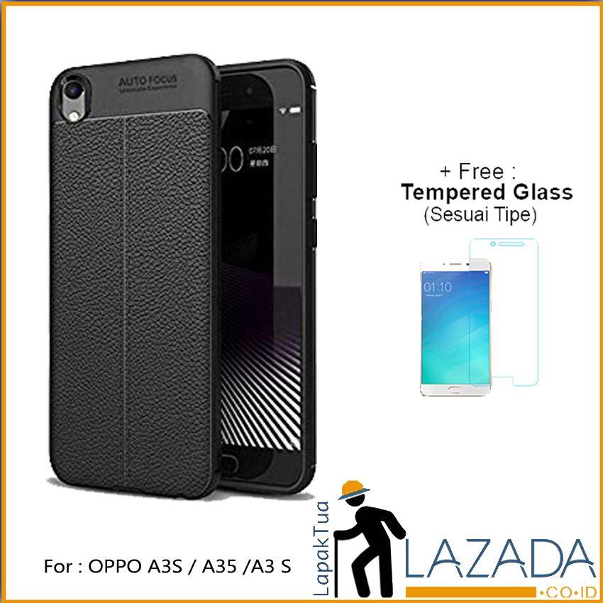 Lapak Case - Softcase / Casing Hp Autofocus / Silikon Motif Kulit Leather Auto Focus OPPO