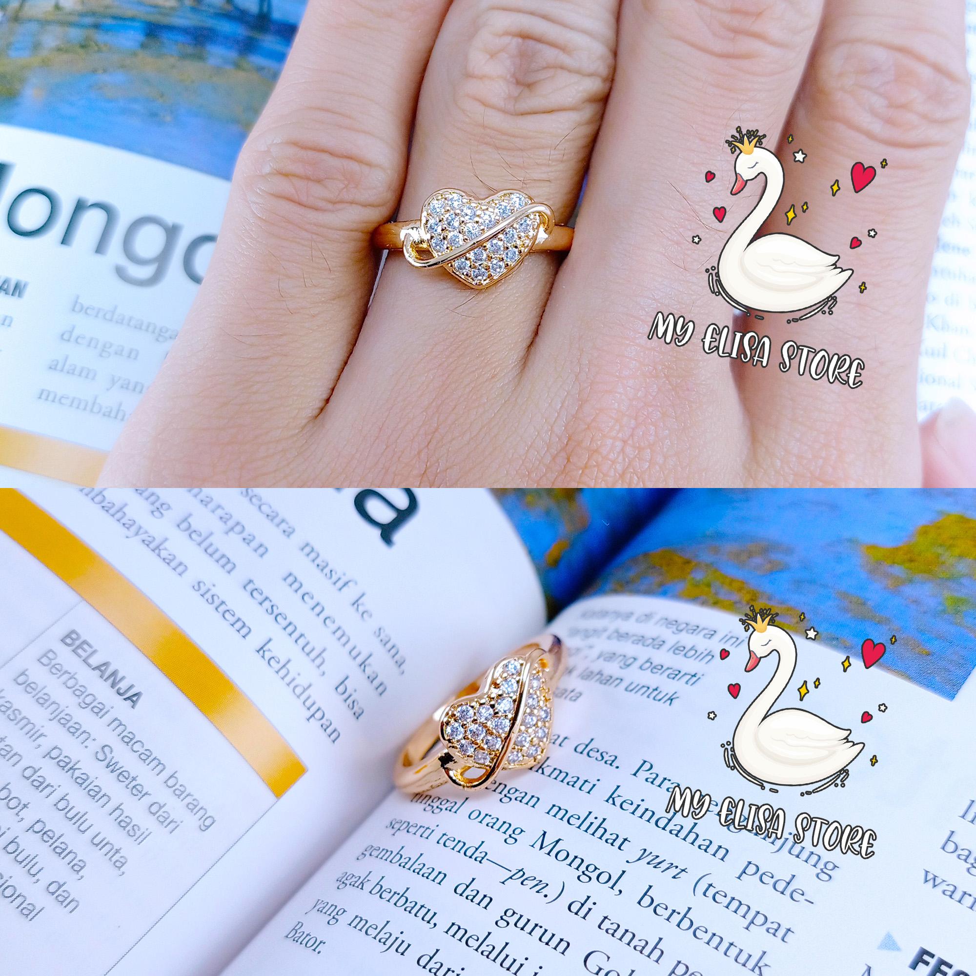 my elisa cincin xuping gold lapis emas women ring love 57