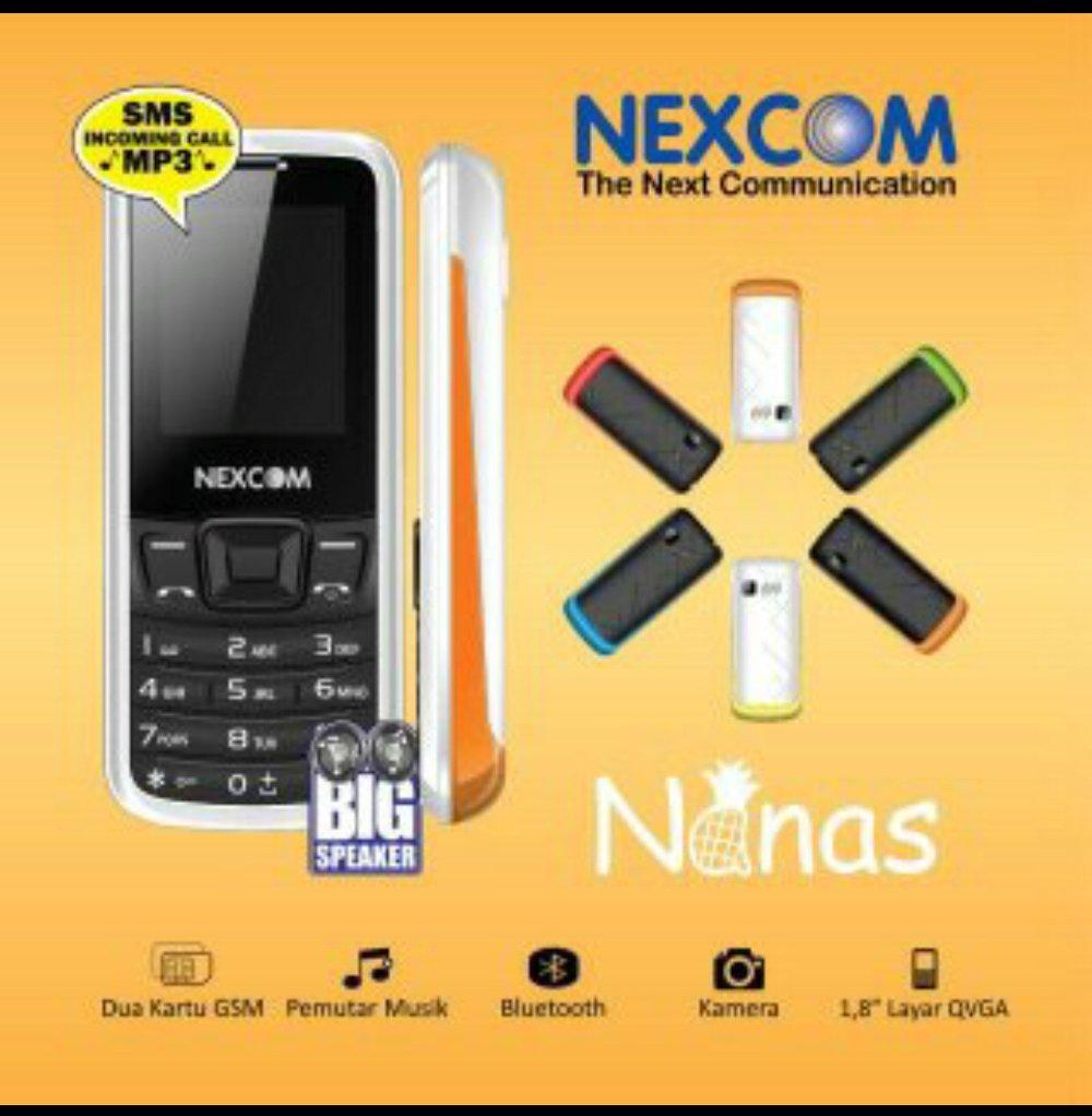 nexcom nanas / dual sim / bluetooth / mp3 / hp unik / hp