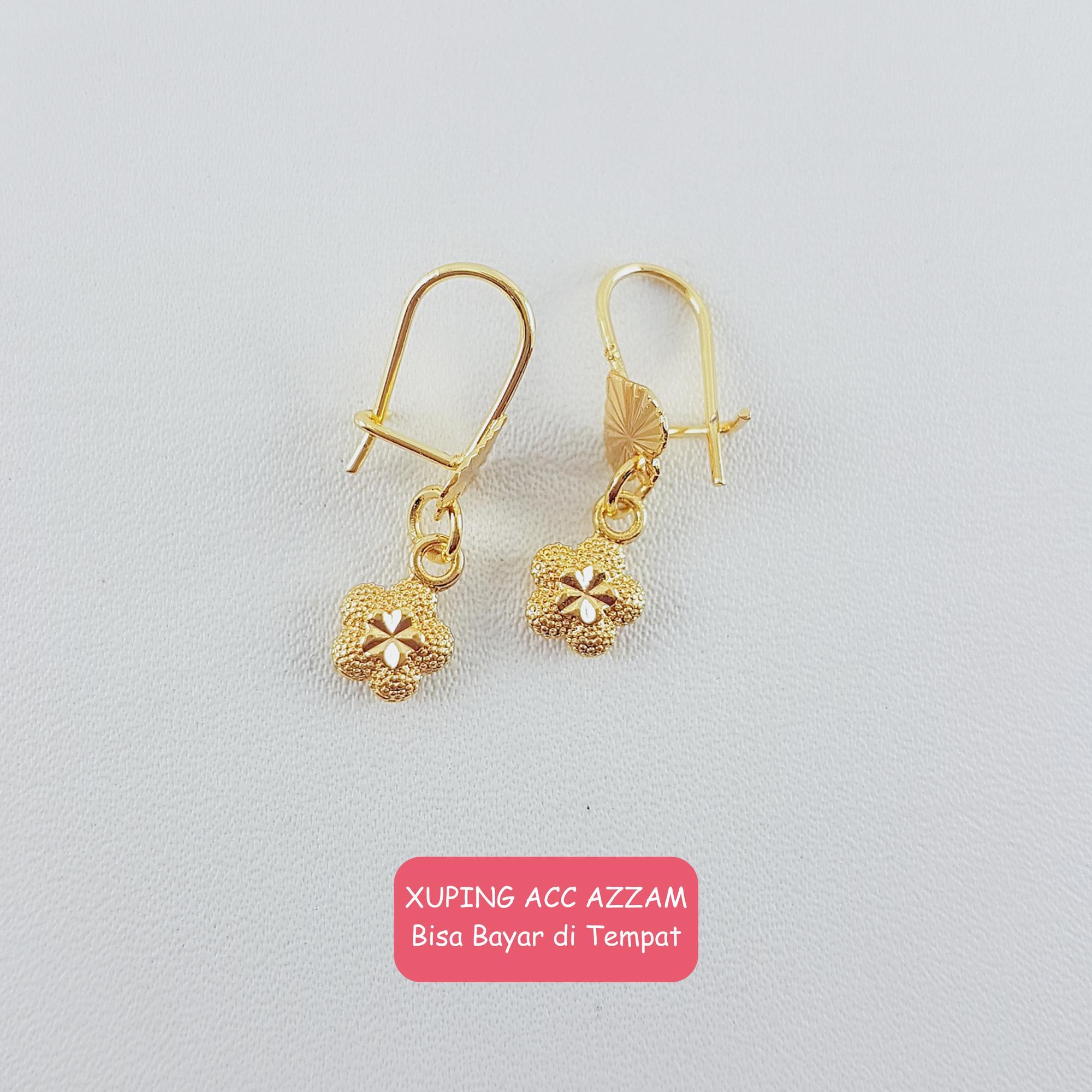 azzam xuping anting kait emas karakter anak lucu