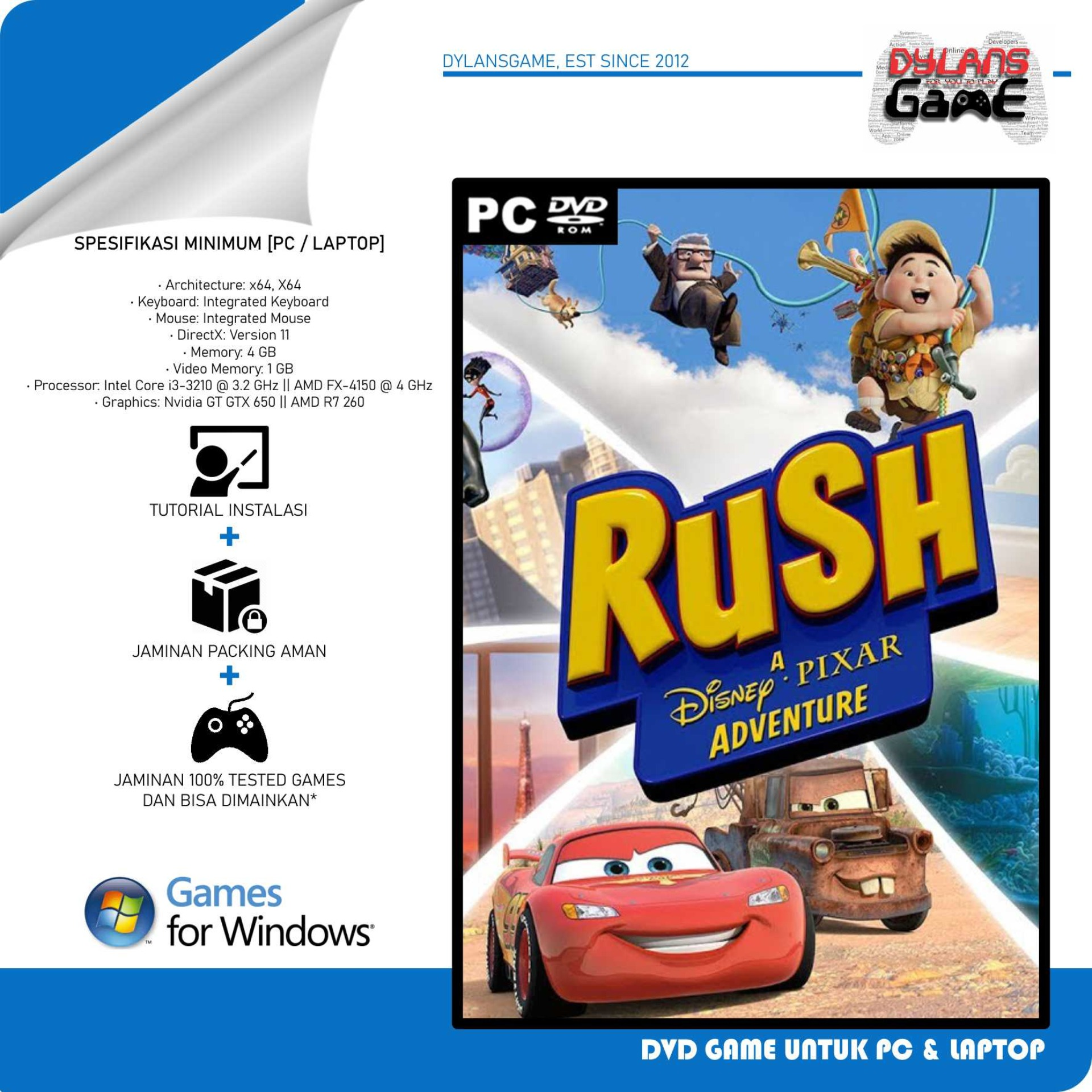 rush a disney pixar adventure game pc dvd game pc