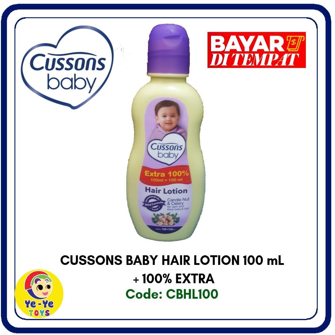 Cussons Baby Hair Lotion 100ml+Extra100%/ Minyak Rambut Bayi