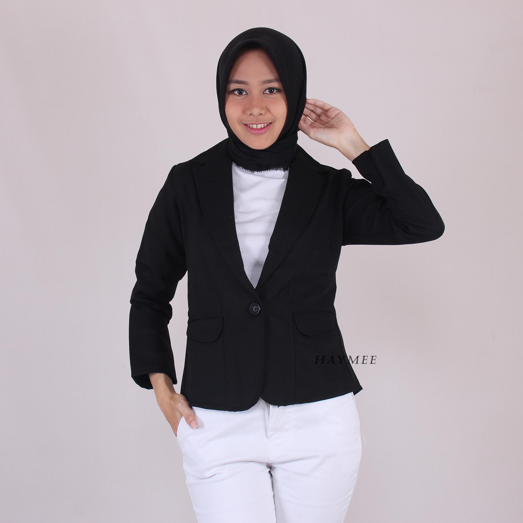 haymeestore blazer kantor wanita atasan jas cewek woman office blazer