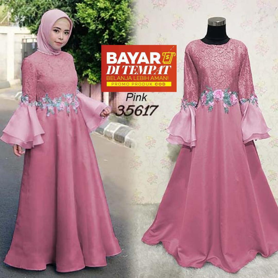 Review Gamis Mewah Wilona Syari Jumbo Muslimah Dress Farza