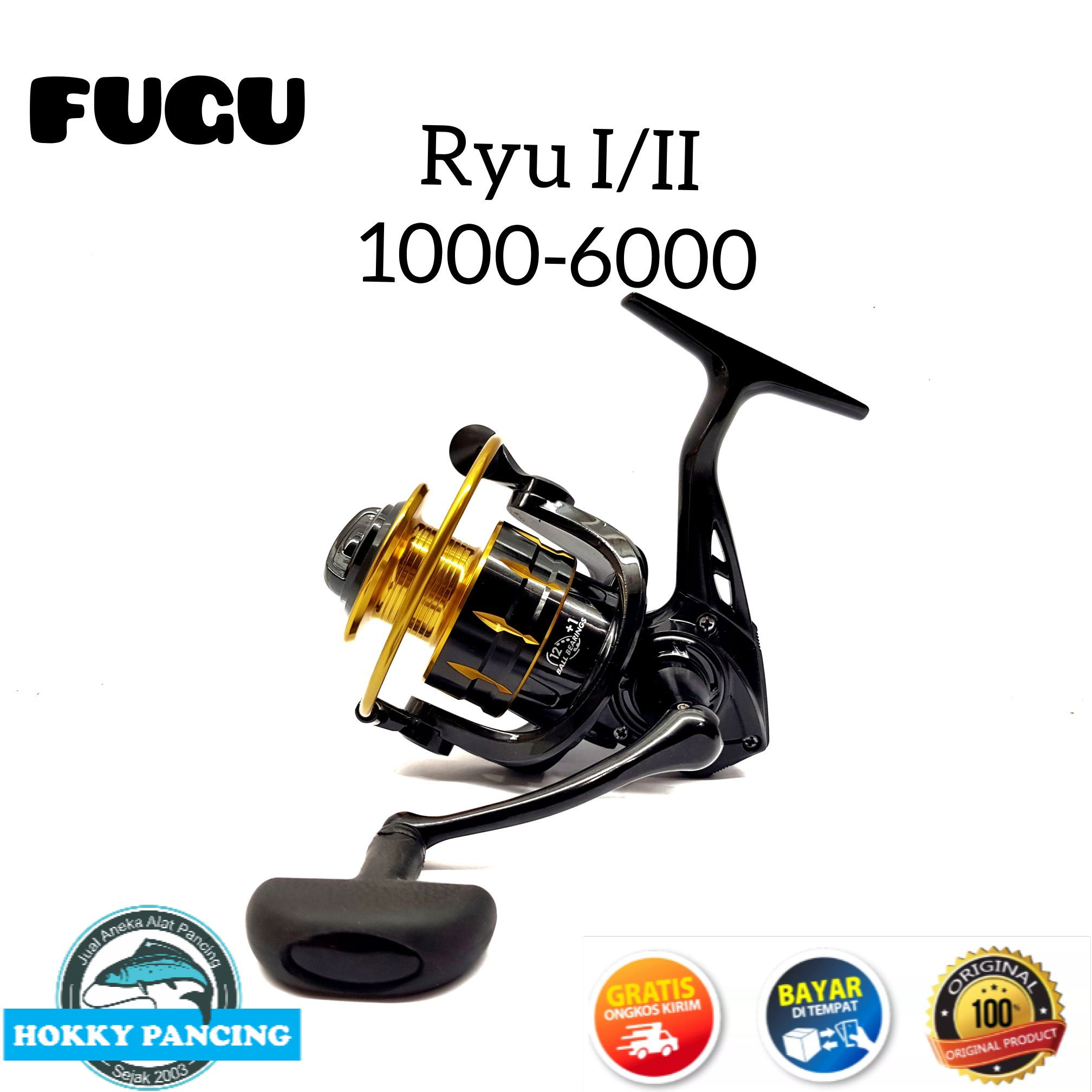 reel pancing fugu ryu 1000-6000 power handle