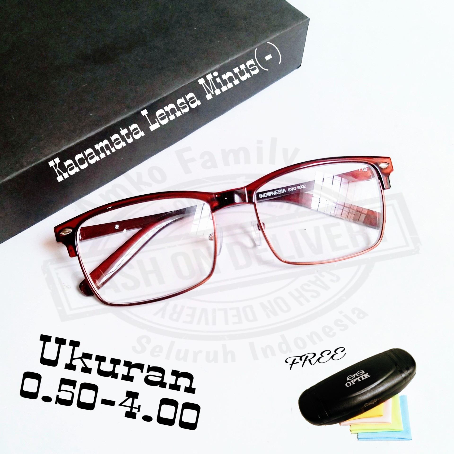 kacamata minus model kotak ukuran 0.50/4.00 free box lap pembersih sunglasses vintage new
