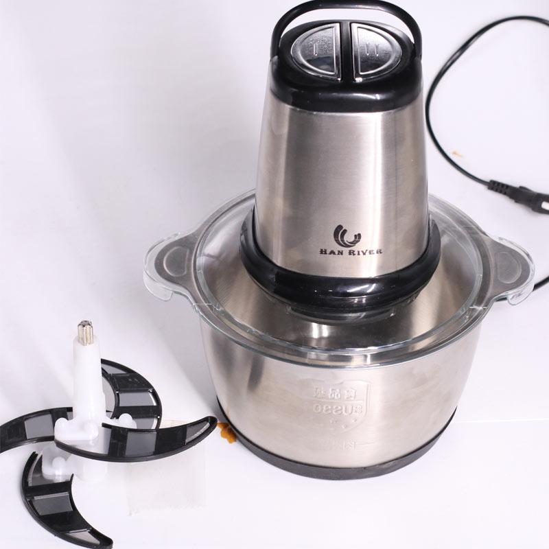 han river meat grinder multifungsi 2lbaja tahan karat electric mesin penggiling blender fruit veg