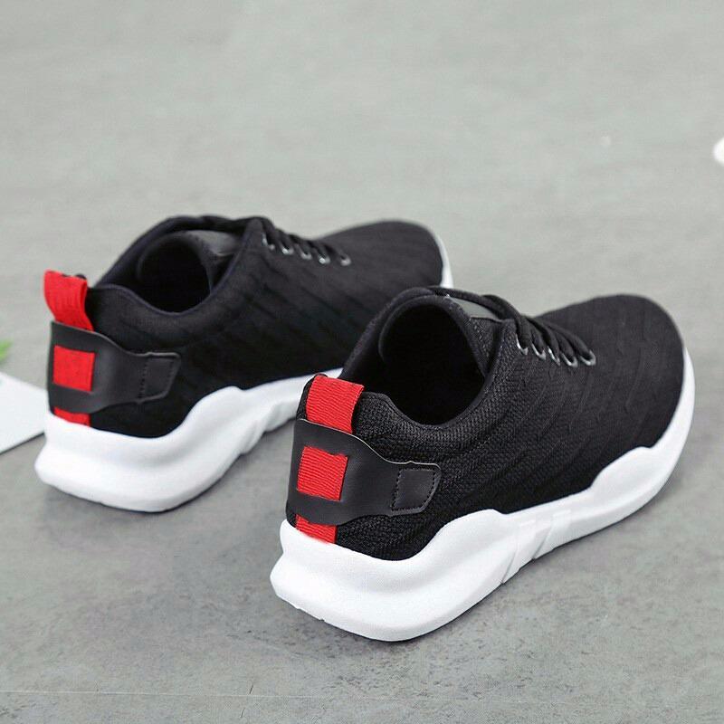 DISTROBOGOR Sepatu Kets Sneaker Wanita/Pria XTC - Sepatu Santai Pink Hitam - 2