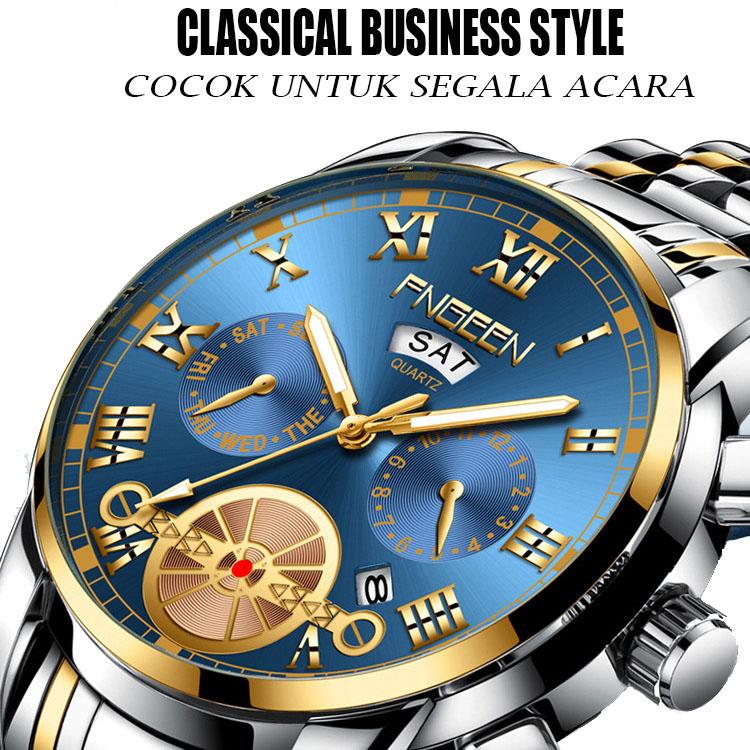 jam tangan pria casual fn002-jam tangan import tahan air-tahan gores benda tajam bisa bayar ditempat