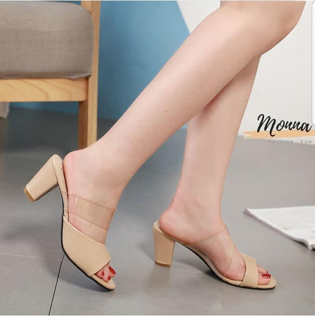 angel.id – heels transparan  desain  masakini kuliatas premium tinggi 7cm size 36-40