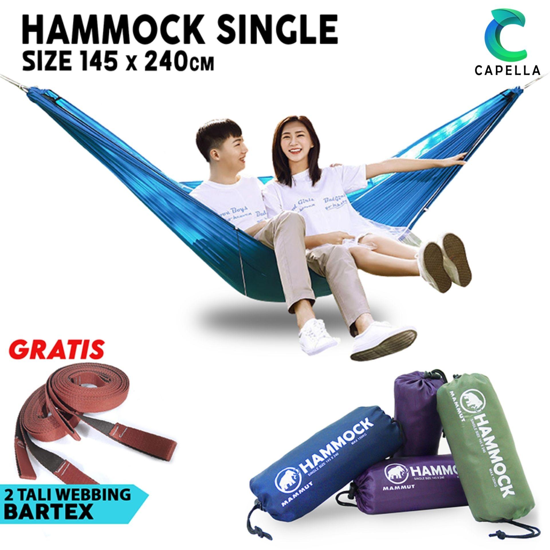 grosir hammock single ayunan gantung camping outdoor kuat ringan praktis untuk pendaki hiking traveling backpacking hamock hemock hemok
