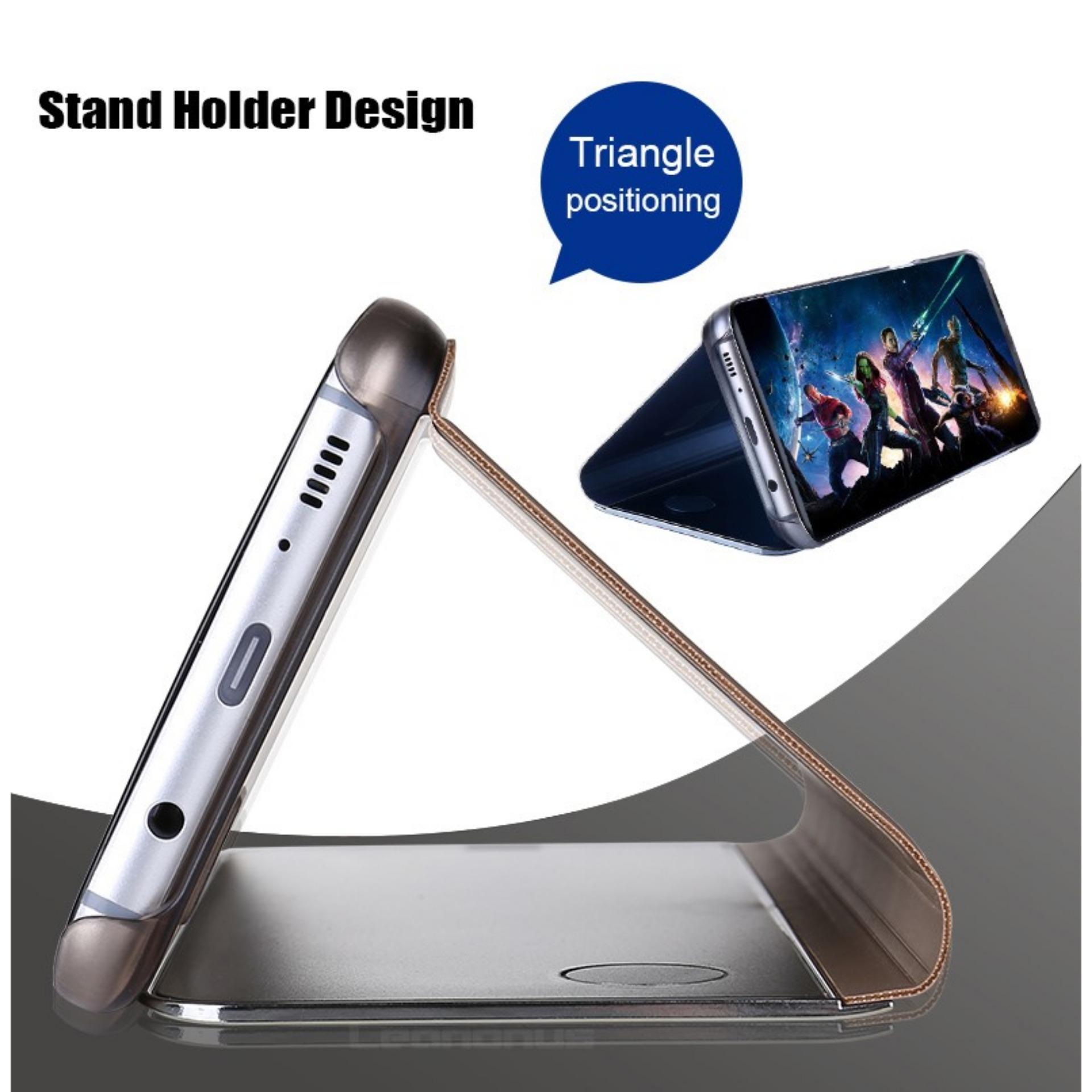 ... Case Samsung Galaxy J6 Plus Flipcase Flip Mirror Cover Casing Hp - Random Color + Free ...