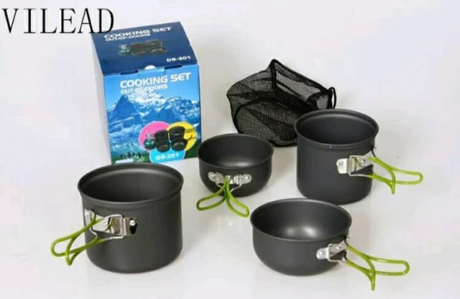 COOKING SET / PANCI / NESTING CAMPING DS 201 - SET ALAT MASAK DS 201