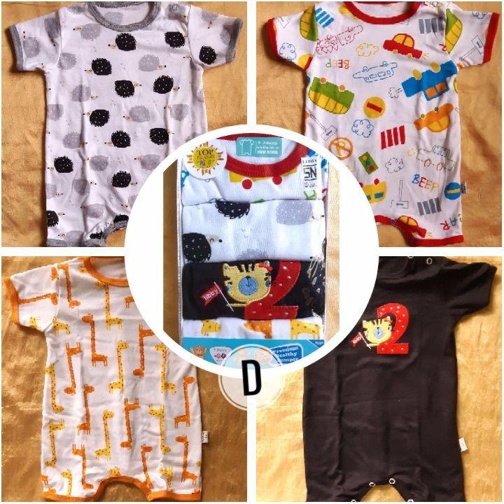 Jumper SegiEmpat Bayi Libby New Born isi 4 Pcs