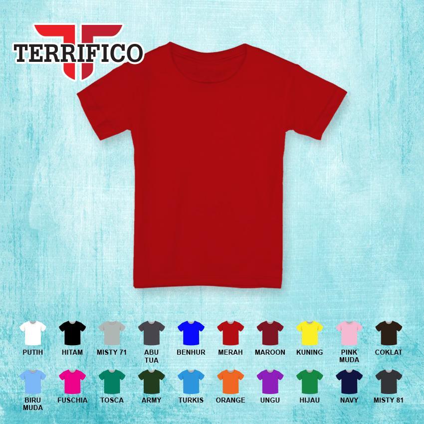 Terrifico-Kaos Polos Anak Laki-laki Lengan Pendek Distro Cotton 30s