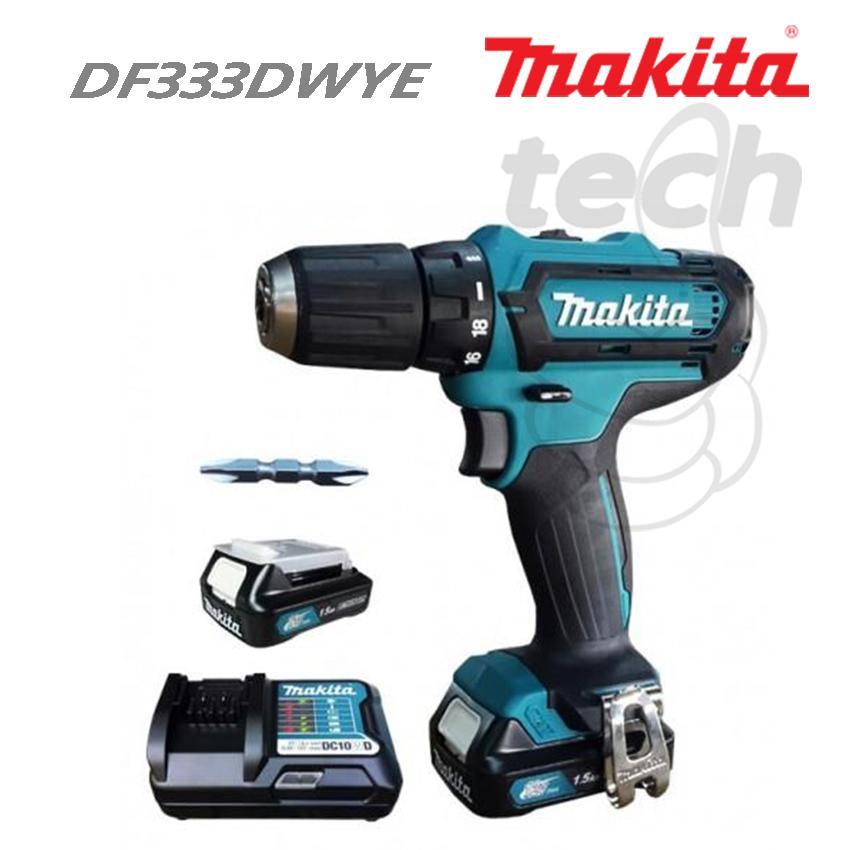 mesin bor baterai / cordless drill makita df333dwye / df 333 dwye / df333