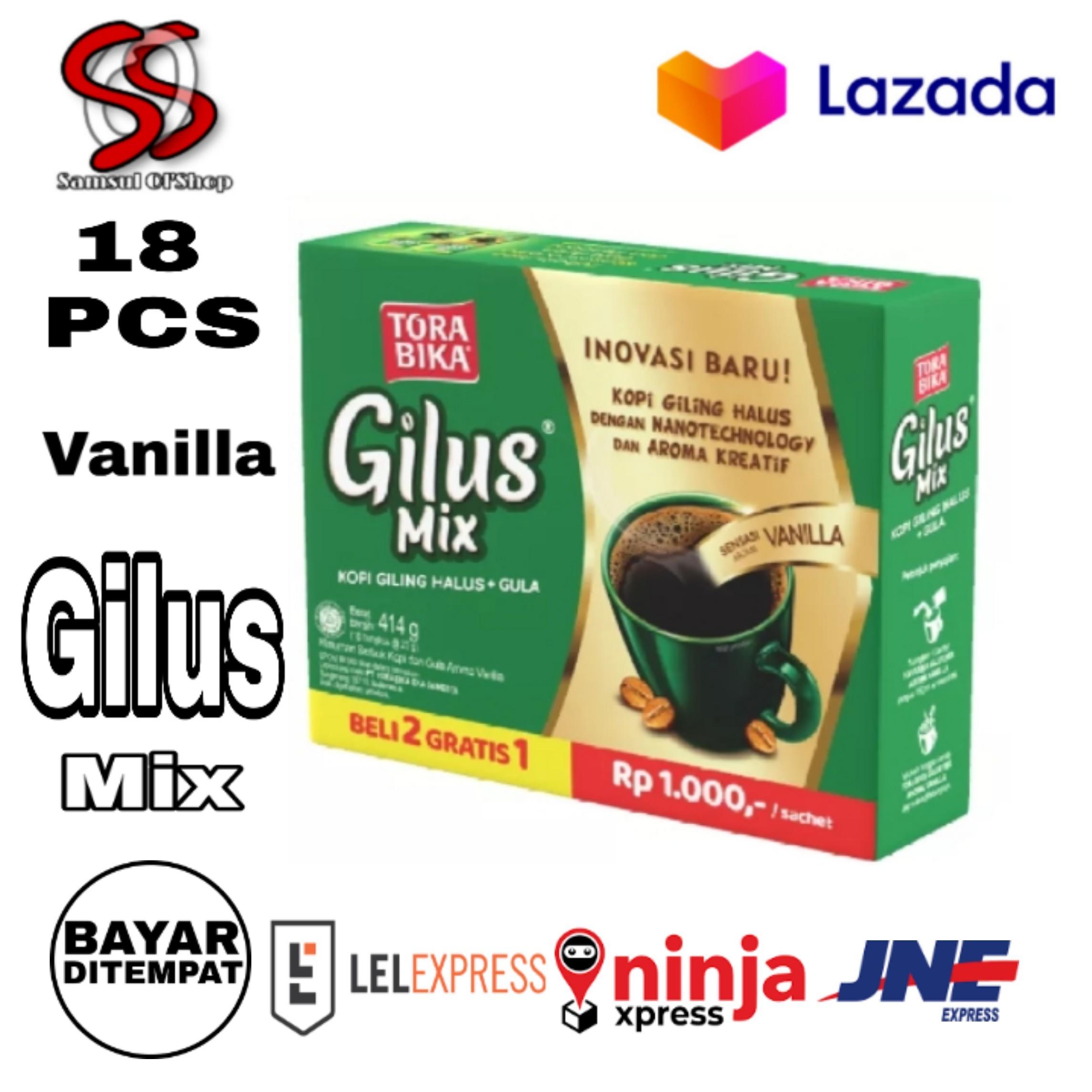 kopi gilus mix rasa vanilla torabika isi (18) pcs / gilus mix vanilla kopi torabika 18 sahcet