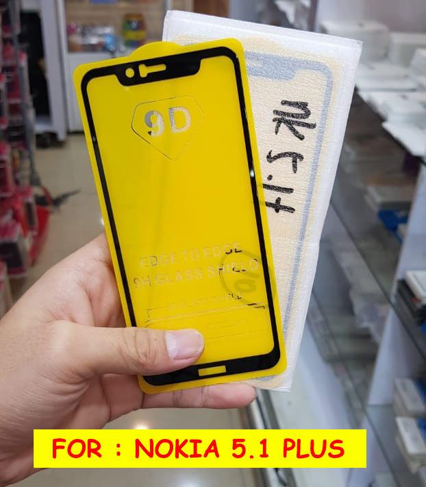 Full Cover Tempered Glass 5D Screen Protector Nokia 5.1 Plus - 3