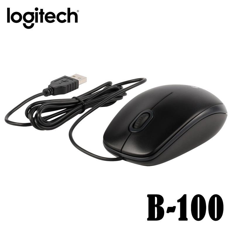 Logitech B100 Optical USB Mouse - Hitam