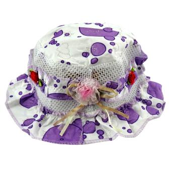 Beau Topi Balita Bucket Hat Motif Renda 1108-227 1 Pcs - Ungu