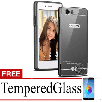 Best Seller Aircase Ultrathin For Oppo neo5 + Free Tempered Glass - Black Clear