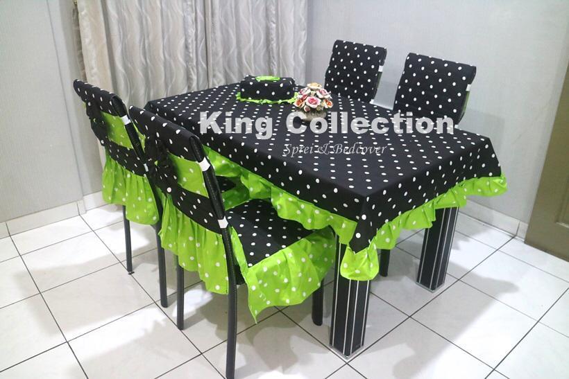 set sarung kursi makan doty hitam#hijau