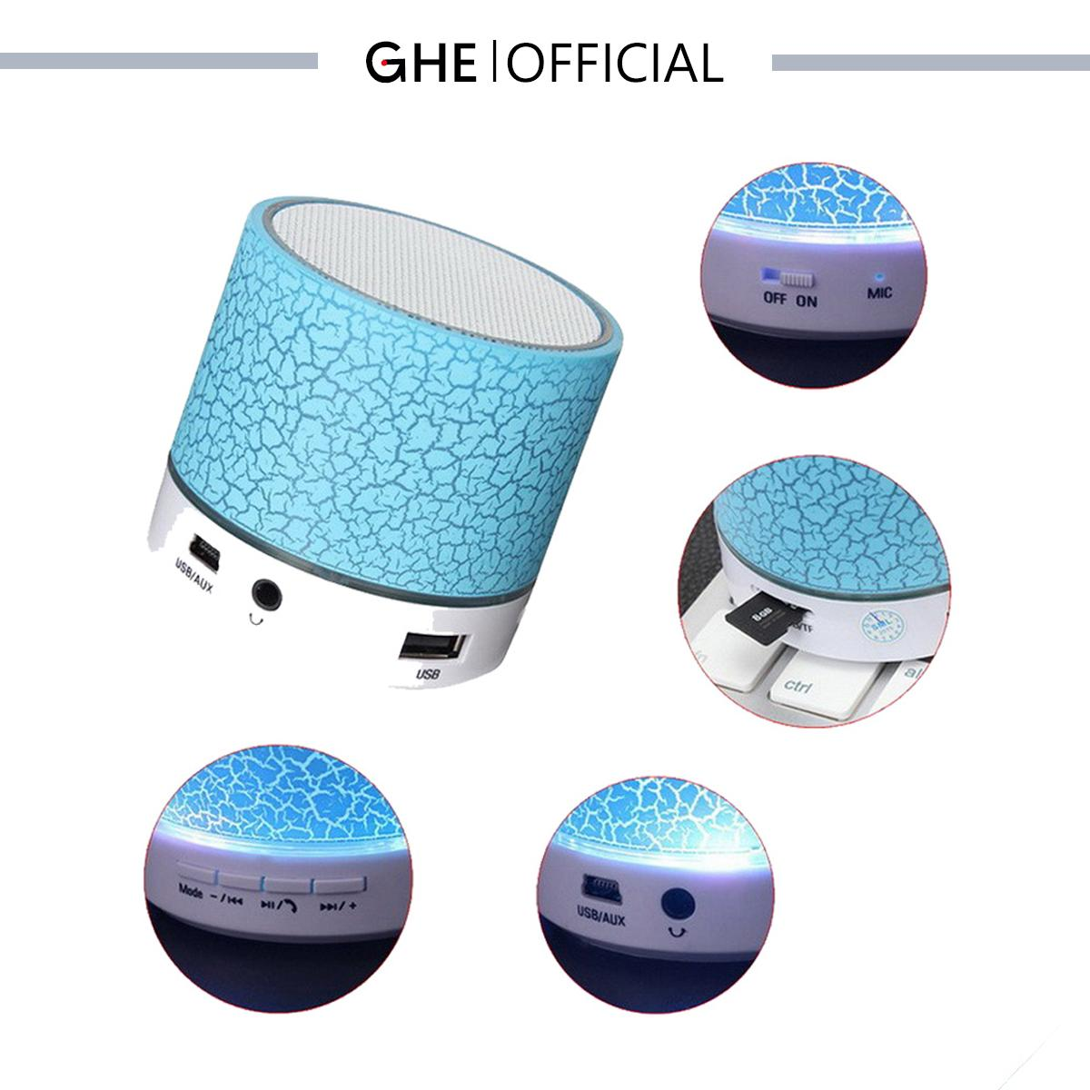 GHE Speaker Bluetooth Mini LED Portable Wireless S10 - 3