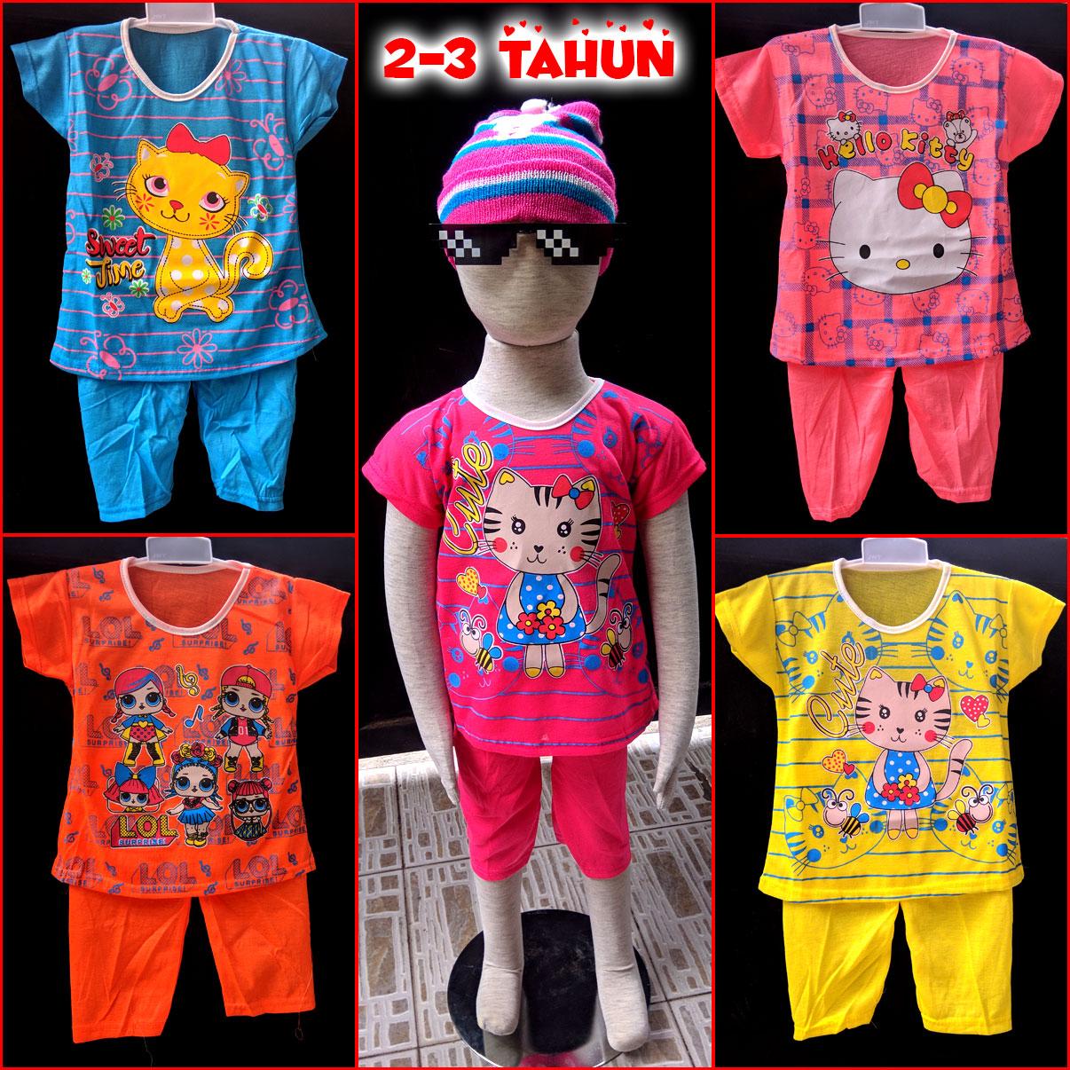 baju anak setelan anak perempuan 2-3 tahun