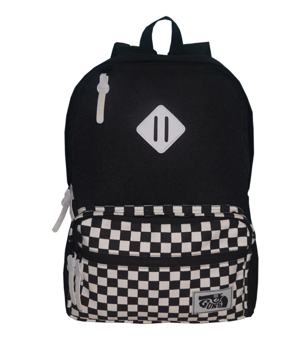 tas pria tas ransel pria motif catur keren tas sekolah  tas distro original