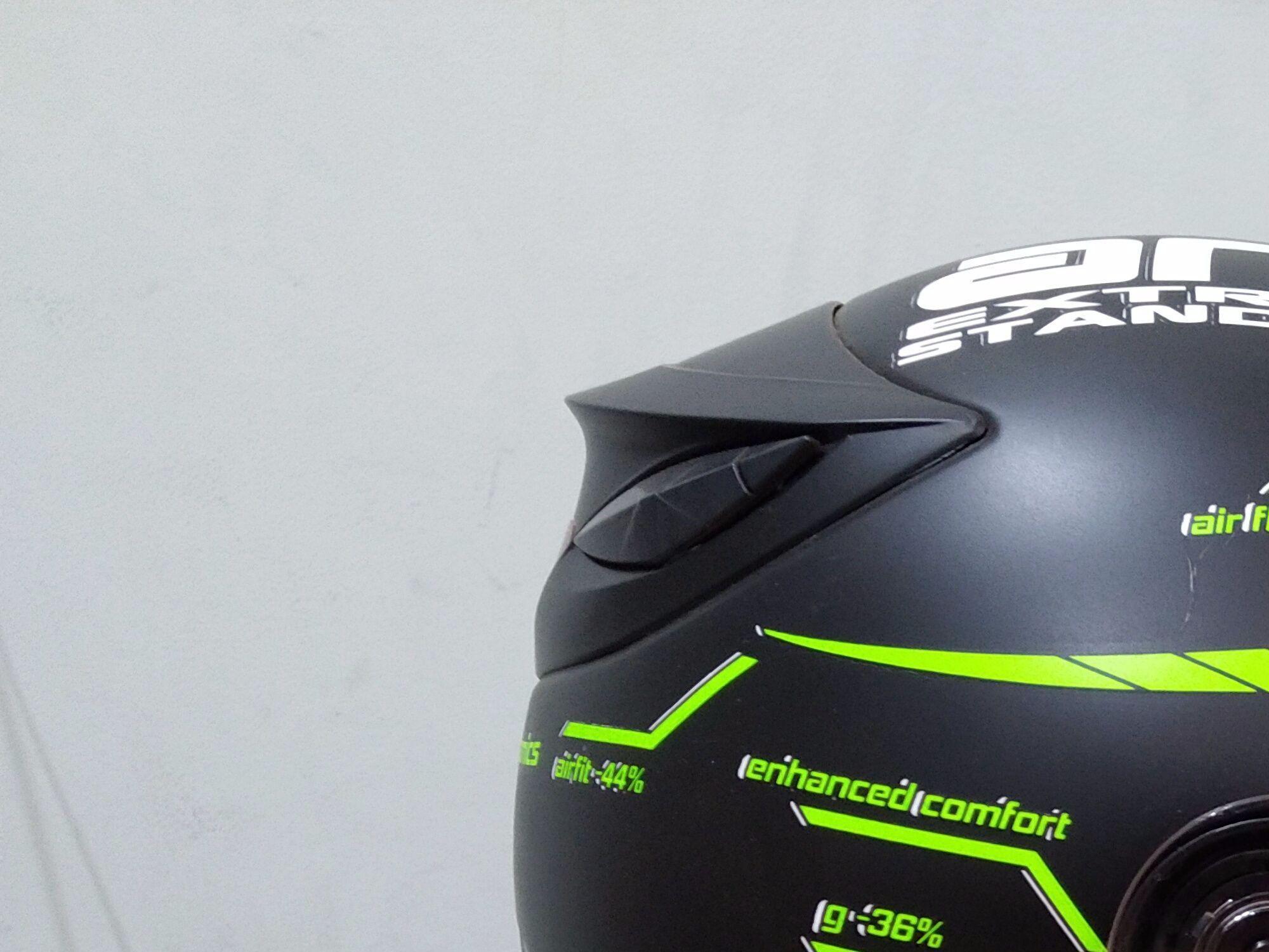 ... HELM Custom VR46 project hitam dop doff elegant - 3