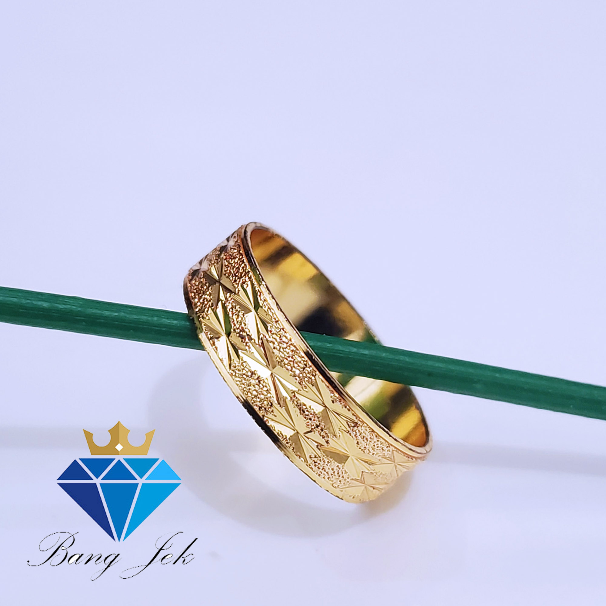 cincin corak lapis emas 24k