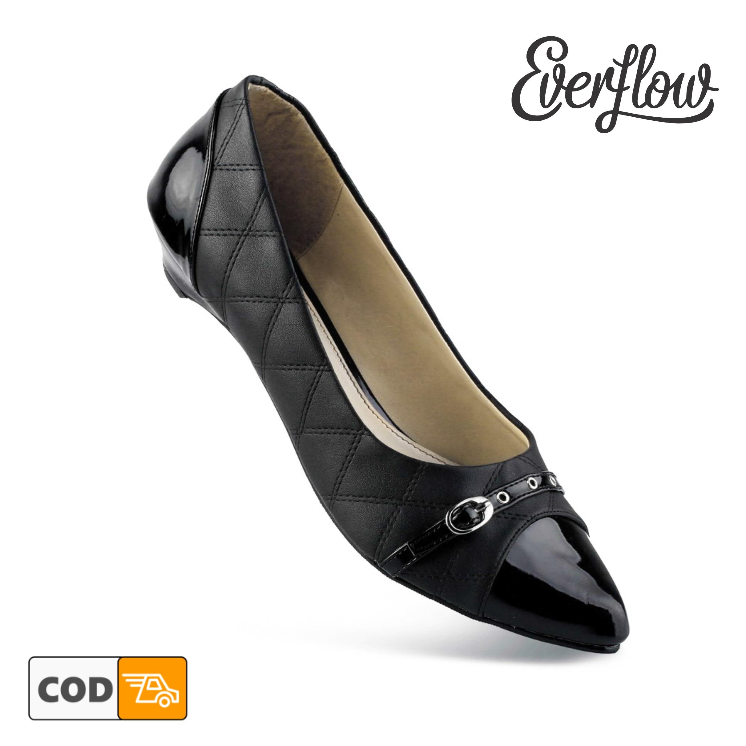 sepatu pantopel wanita flat shoes vpd07 hitam / sepatu kerja wanita  / sepatu kantor kerja kuliah